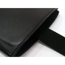 Кожен калъф с издърпване тип джоб за ZTE Blade Q - черен