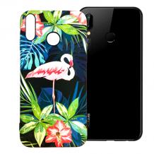 Силиконов калъф / гръб / TPU LUXO за Huawei P Smart Z / Y9 Prime 2019 - розово фламинго
