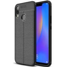 Луксозен силиконов калъф / гръб / TPU за Xiaomi Mi 8 - черен / имитиращ кожа