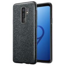 Силиконов калъф / гръб / TPU за Samsung Galaxy S9 Plus G965 - черен / брокат