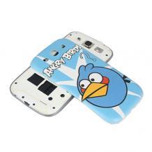 Оригинален заден предпазен капак за Samsung Galaxy S3 I9300 / SIII I9300 - Angry birds / син