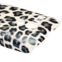 Заден предпазен твърд гръб / капак / за Motorola Moto G X1032 - сив / леопард