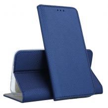 Кожен калъф Magnet Case със стойка за Nokia 4.2 - тъмно син