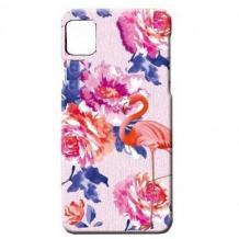 Силиконов калъф / гръб / TPU LUXO за Samsung Galaxy A31 - цветя / розово фламинго