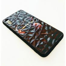 Луксозен твърд гръб 3D за Apple iPhone X / iPhone XS - маймуна / черна призма