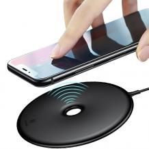 Оригинално универсално зарядно за безжично захранване BASEUS Donut 220V / Fast Wireless Charger Qi Standard - черно