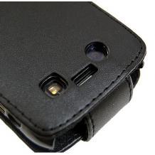 Кожен калъф Flip тефтер за BlackBerry Bold 9700 - черен