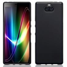 Силиконов калъф / гръб / TPU за Sony Xperia 10 Plus - черен / мат
