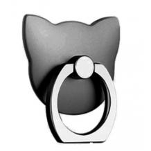 Универсална стойка за телефон - пръстен / тъмно сив / коте