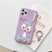 Силиконов калъф / гръб / TPU 3D за Apple iPhone 7 / iPhone 8 - Cartoon Duffy Rabbit / лилав