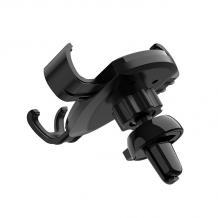 Универсална стойка за кола Borofone Car Air Vent Holder въртяща се на 360 градуса - черна