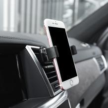 Универсална стойка за кола Dock Air Outlet Vent Mini Car Holder въртяща се на 360 градуса - черна