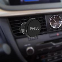 Магнитна универсална стойка за кола YESIDO C19 Air Vent - черна / въртяща се на 360 градуса