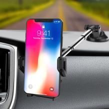 Универсална стойка за кола YESIDO C40 за Samsung, Apple, Huawei, Lenovo, LG, HTC, Sony, Nokia, Xiaomi и други - черна / въртяща се на 360 градуса