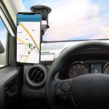 Универсална стойка за кола YESIDO C44 Gravity Car Mount за Samsung, Apple, Huawei, Lenovo, LG, HTC, Sony, Nokia, ZTE, Xiaomi - черна / въртяща се на 360 градуса