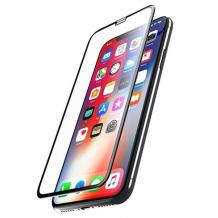 5D Full Cover Nano Anti-Shock Glass Screen Protector Apple iPhone X / iPhone XS / 5D извит скрийн протектор за Apple iPhone X / iPhone XS - черен