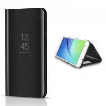 Луксозен калъф Clear View Cover с твърд гръб за Samsung Galaxy A01 - Черен