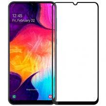 Удароустойчив протектор Full Cover / Nano Flexible Screen Protector с лепило по цялата повърхност за дисплей на Samsung Galaxy A40 - черен