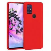 Луксозен силиконов калъф / гръб / Nano TPU за Samsung Galaxy A21s - червен