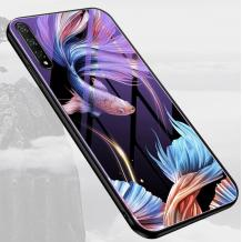 Луксозен стъклен твърд гръб за Xiaomi Mi A3 - риби