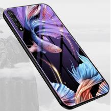 Луксозен стъклен твърд гръб за Xioami Redmi Note 8 Pro - риби