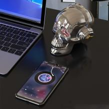 Bluetooth тонколона Skull Head / Skull Head Bluetooth Wireless Stereo Speaker - Gold