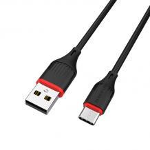 USB кабел за зареждане и пренос на данни / USB кабел BOROFONE Type C USB BX17 1m. FAST - черен
