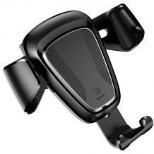 Универсална стойка за кола Baseus Gravity Car Mount за Samsung, Apple, Huawei, Lenovo, LG, HTC, Sony, Nokia, ZTE - черна / въртяща се на 360 градуса