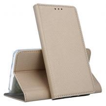 Кожен калъф Magnet Case със стойка за Sony Xperia 10 / XA3 - златист