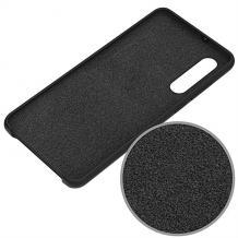 Луксозен силиконов калъф / гръб / Nano TPU за Huawei P30 Pro - черен