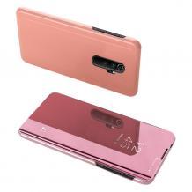 Луксозен калъф Clear View Cover с твърд гръб за Xiaomi Redmi Note 8 Pro - Rose Gold