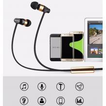Оригинални стерео слушалки AWEI ES-12Hi / handsfree / 3.5mm за смартфон - златисти