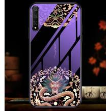 Луксозен стъклен твърд гръб за Xioami Redmi Note 8 Pro - дракон