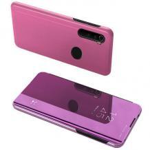 Луксозен калъф Clear View Cover с твърд гръб за Samsung Galaxy A10s - лилав
