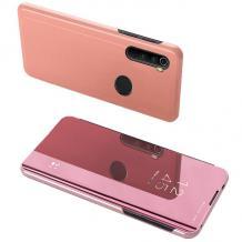 Луксозен калъф Clear View Cover с твърд гръб за Samsung Galaxy A10s - Rose Gold