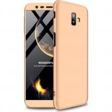 Твърд гръб Magic Skin 360° FULL за Samsung Galaxy J6 Plus 2018 - златист