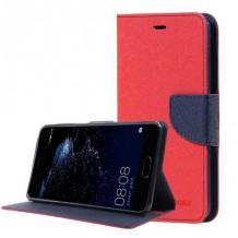 Кожен калъф Flip тефтер със стойка MERCURY Fancy Diary за Nokia 2.3 - червен
