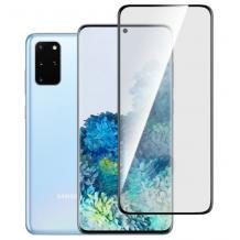 3D full cover Tempered glass screen protector Samsung Galaxy S20 Ultra / Извит стъклен скрийн протектор за Samsung Galaxy S20 Ultra - черен