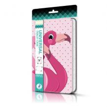 Универсален кожен калъф Nimbo със стойка за таблет 7'' / 8''  - Розов / Flamingo