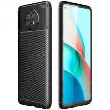Луксозен силиконов калъф / гръб / TPU Auto Focus за Xiaomi Redmi Note 9T 5G - черен / Carbon