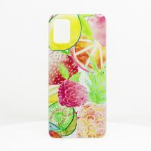 Луксозен силиконов калъф / гръб / TPU за Samsung Galaxy A21s - Summer / малини