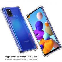 Удароустойчив силиконов калъф / гръб / TPU за Samsung Galaxy A21s - прозрачен
