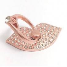 Универсална стойка за телефон с камъни - пръстен / Rose Gold / устни