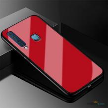 Луксозен стъклен твърд гръб за Huawei P Smart Z / Y9 Prime 2019 - червен