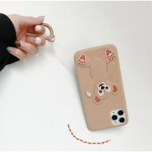 Силиконов калъф / гръб / TPU 3D за Apple iPhone 7 / iPhone 8 - Cartoon Duffy Bear / бежов