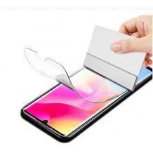 Удароустойчив протектор Full Cover / Nano Flexible Screen Protector с лепило по цялата повърхност за дисплей на Huawei Y6p – черен кант