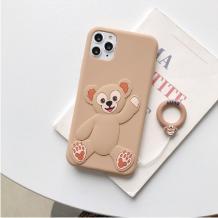 Силиконов калъф / гръб / TPU 3D заApple iPhone 11 6.1'' - Cartoon Duffy Bear / бежов