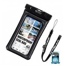 Универсален водоустойчив калъф Waterproof WK WT-Q01OR за мобилен телефон (L) - черен