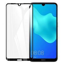 Удароустойчив протектор Full Cover / Nano Flexible Screen Protector с лепило по цялата повърхност за дисплей на Huawei Y5 2019 - черен