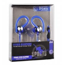 Стерео слушалки Sports / Stereo Sports Earphones / 3.5mm за смартфон - сини